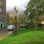 Cut grass in Battersea and WWP van