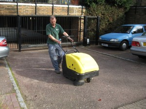 Karcher Road Sweeper and Operative