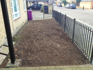 Large shrubs and stumps removed and soil raked over