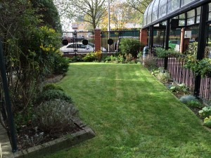 Totteridge House lawns and tennants flower beds